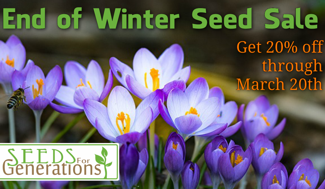 End of Winter Seed Sale
