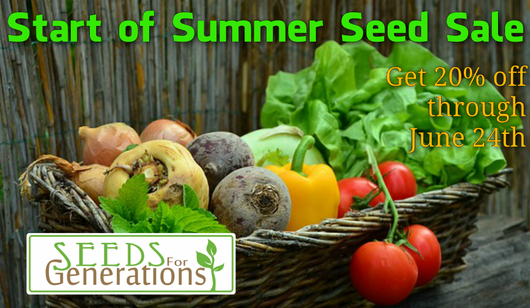 Start of Summer Seed Sale