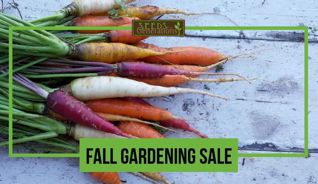 Fall Gardening Seed Sale