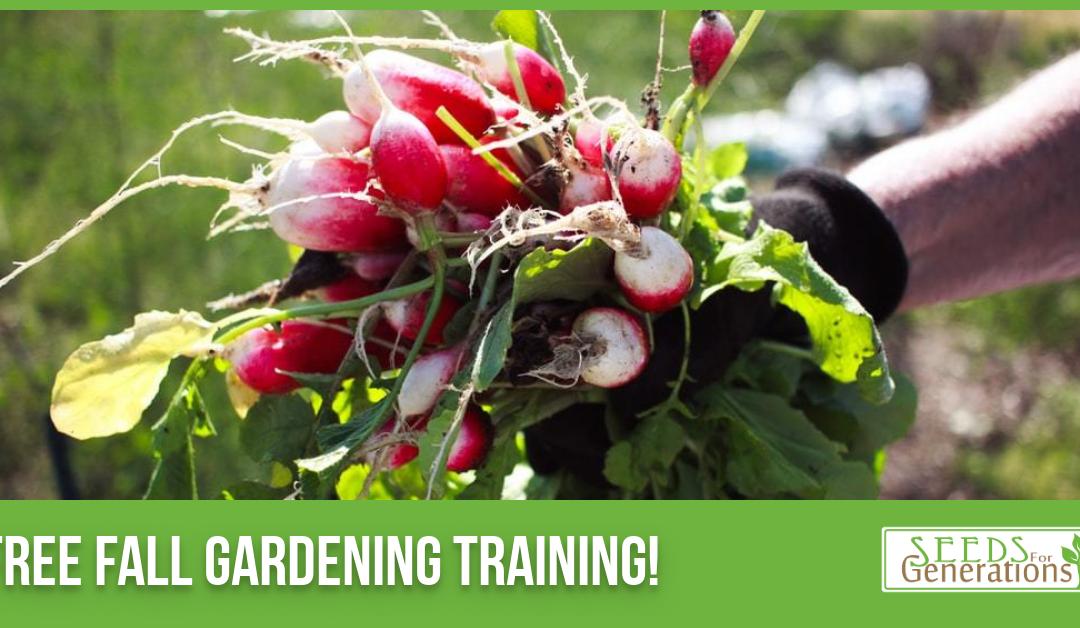Fall Garden Planning Training